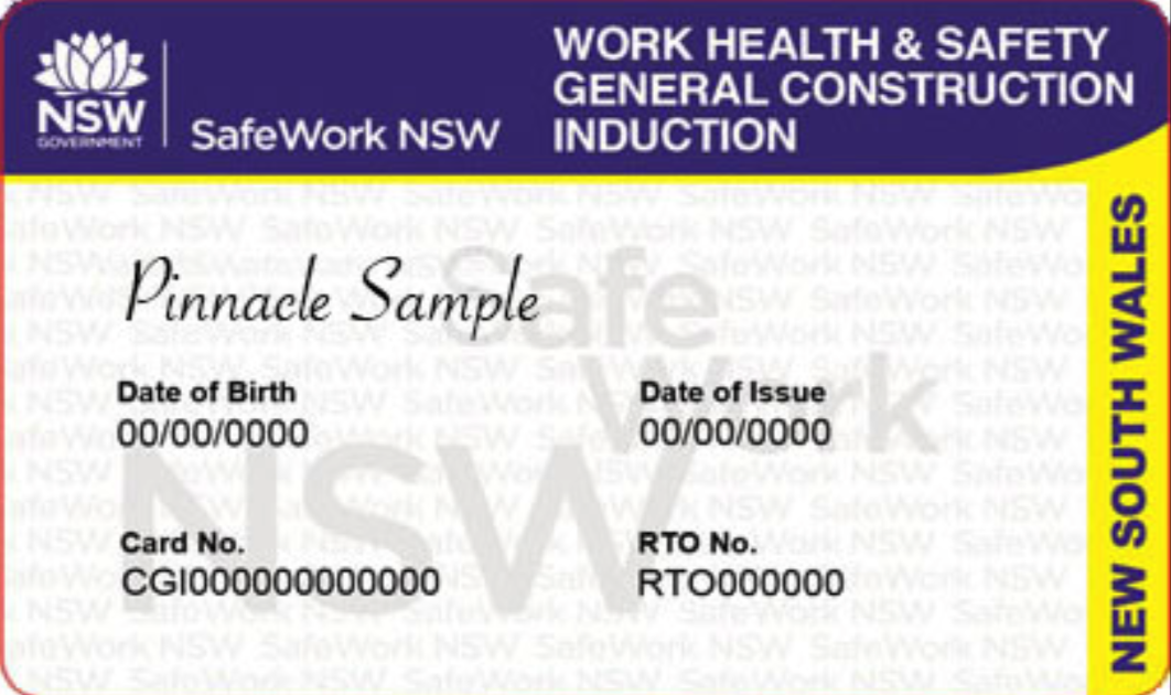 NSW White Card Course